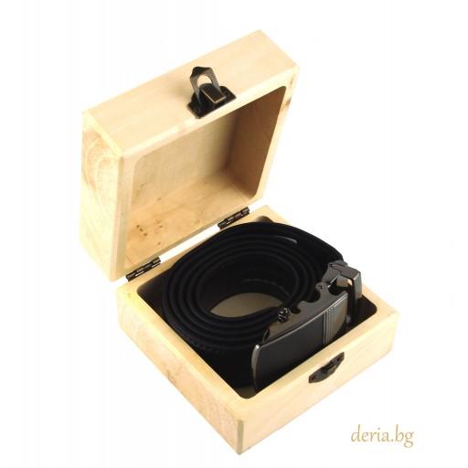 дървена кутия, подаръчна опаковка за колани