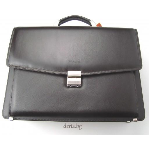 мъжка чанта Grande К 4211-тъмно кафява