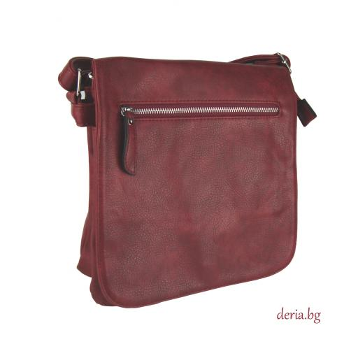Дамска чанта през рамо А 6665-672-червена