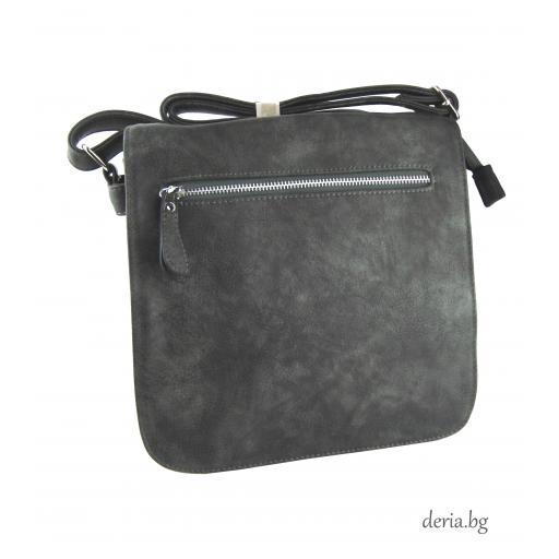 Дамска чанта през рамо А 6665-672-сива