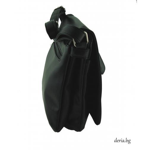 Дамска чанта през рамо А 6665-672-черен