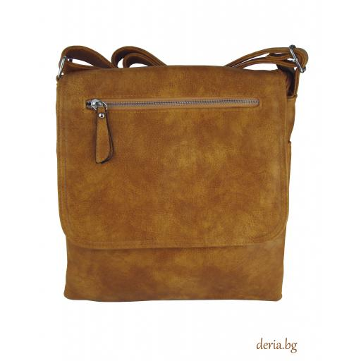 Дамска чанта през рамо А 6665-673-светло кафява