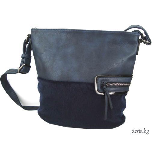 Дамска чанта през рамо 2110-синя