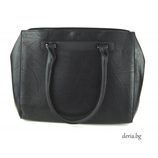 Дамска чанта голяма черна-А 60194