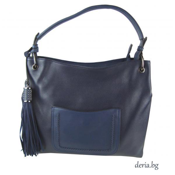 Дамска чанта  тъмно синя -А 552