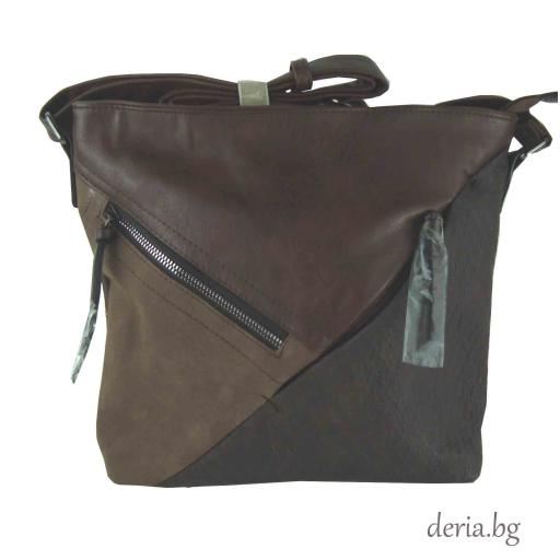 Дамска чанта през рамо 2110-кафява