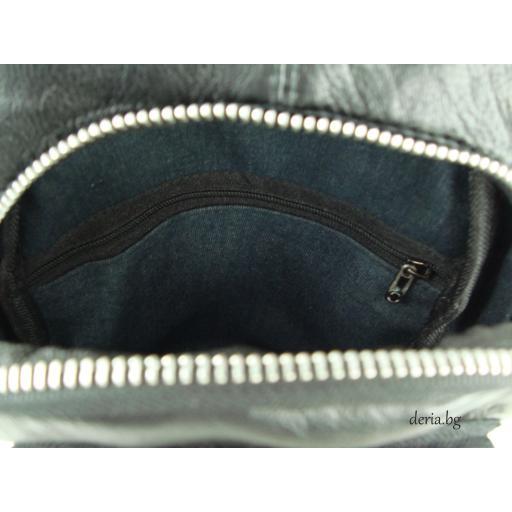 Мъжка чанта за носене през рамо черна-R 1781-2