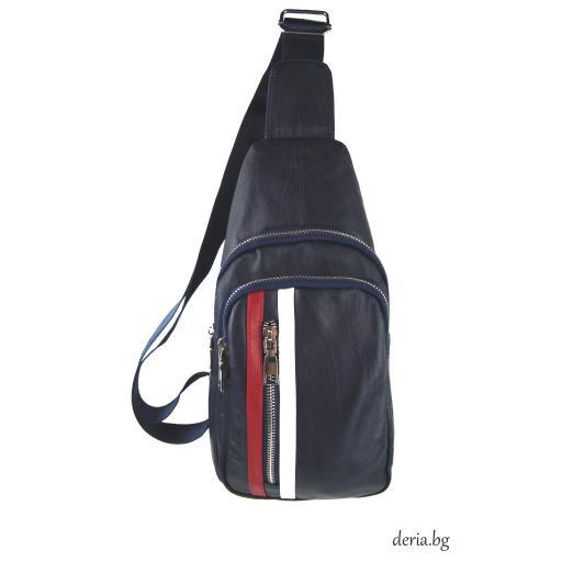 Мъжка чанта за носене през рамо синя-R 1781-3