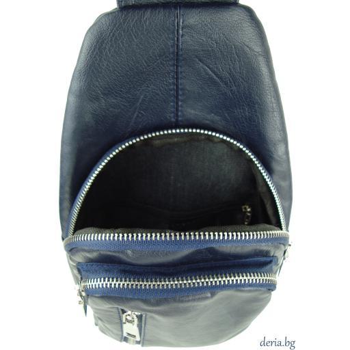 Мъжка чанта за носене през рамо синя-R 1781-4