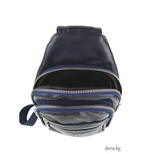 Мъжка чанта за носене през рамо тъмно синя-R 1781-1