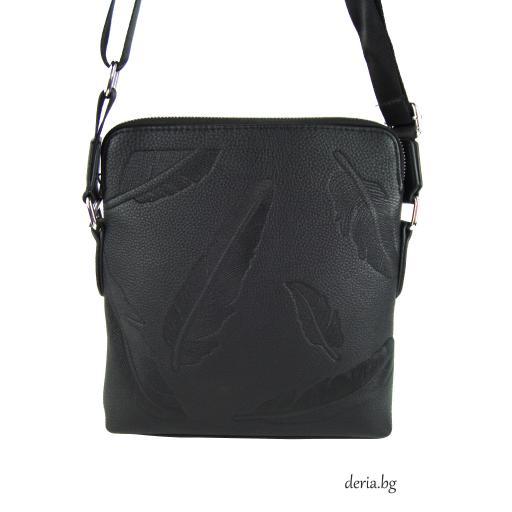 Мъжка чанта с цип и дълга дръжка-М 163-2