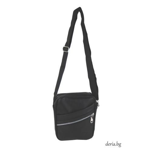 Мъжка черна  чанта-R 2845