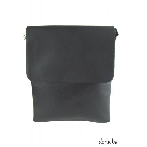 Мъжка чанта с дълга дръжка-М 2060-1 черна