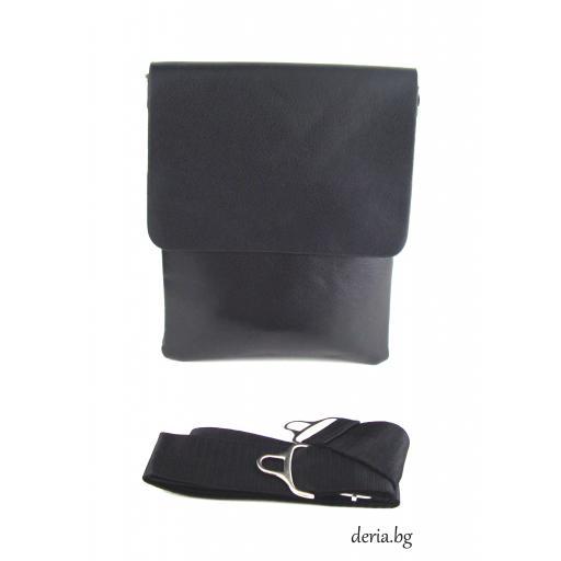 Мъжка чанта с дълга дръжка-М 2060-2 черна