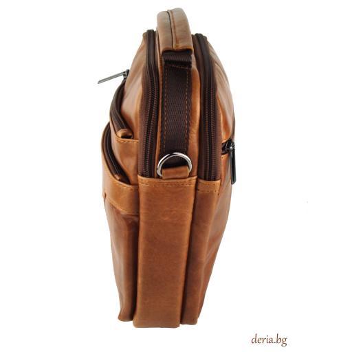 Мъжка чанта от естествена кожа F 8817