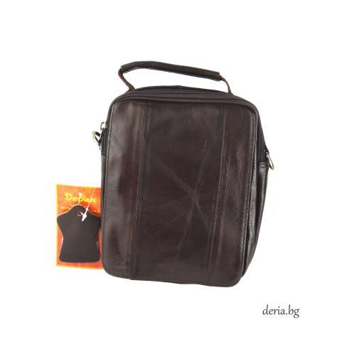 Мъжка чанта от естествена кожа F 5008