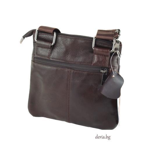 Мъжка чанта от естествена кожа F 2513
