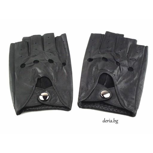 шофьорски кожени ръкавици-черни