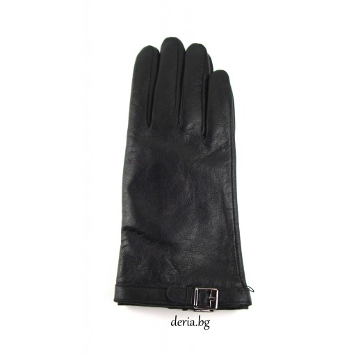 дамски кожени  ръкавици 14026-черни