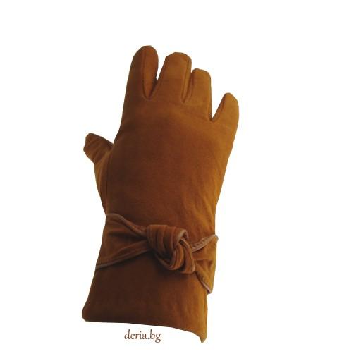 дамски ръкавици 409-светло кафяви