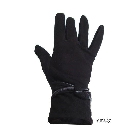 дамски кожени ръкавици 409-черни