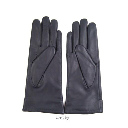 дамски кожени ръкавици 1137-тъмно сини