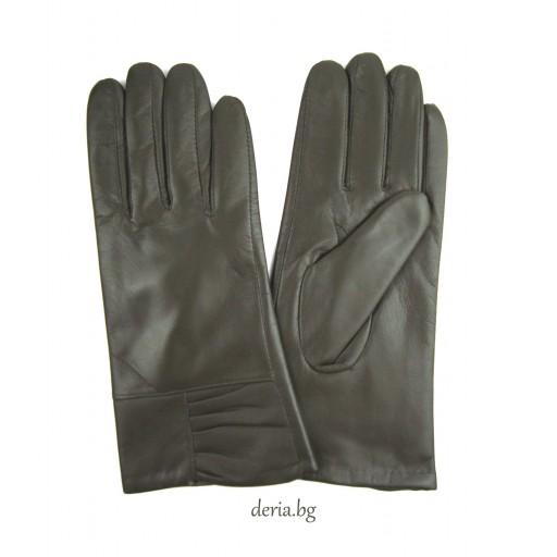 дамски кожени ръкавици 302-зелени