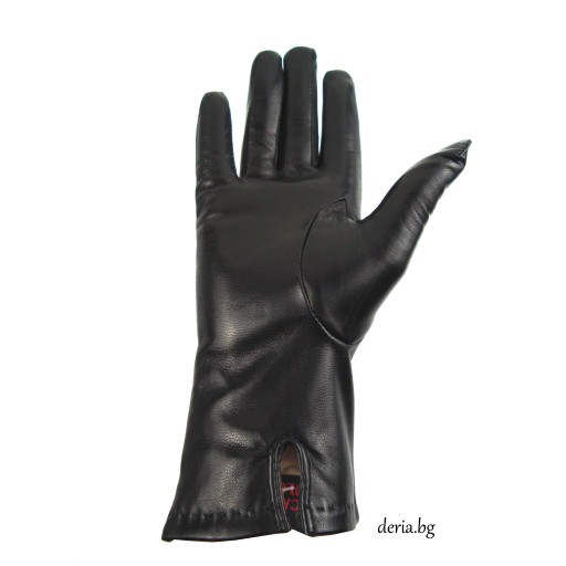 дамски кожени ръкавици 403-черни
