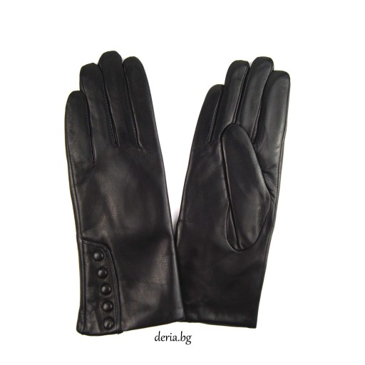 дамски кожени ръкавици 9108-черни