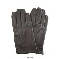 мъжки кожени ръкавици 124-тъмно кафяви