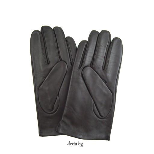 мъжки ръкавици 124-тъмно кафяви