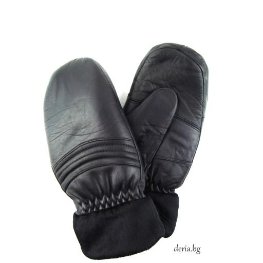 дамски  кожени ръкавици с един пръст