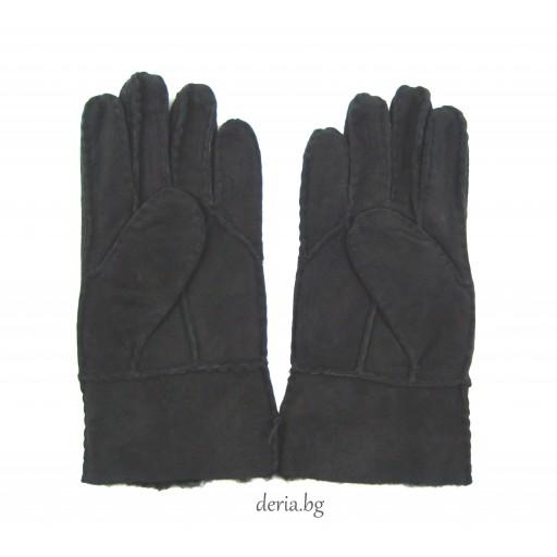 детска ръкавица от естествена кожа-черни 02