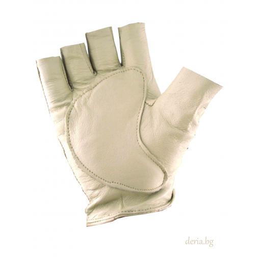 дамски шофьорски ръкавици -бежови