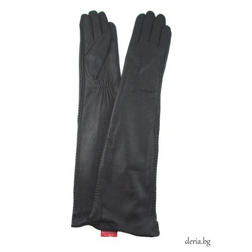 Дамски дълги ръкавици-черни