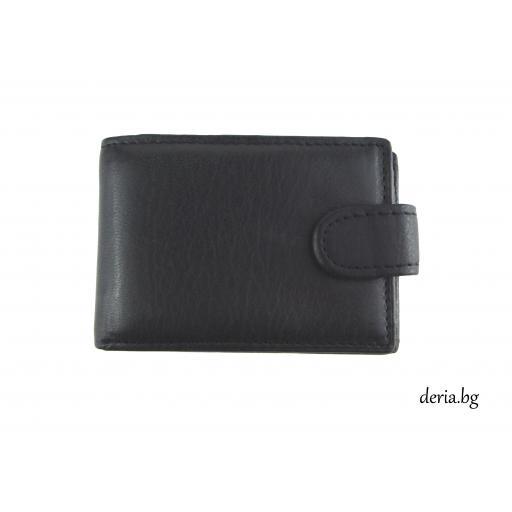 компактен мъжки портфейл от естествена кожа