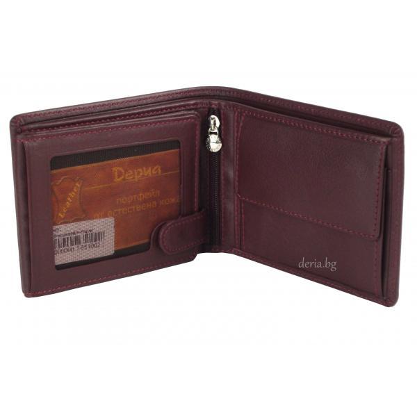 Мъжки портфейл Grande 506-бордо