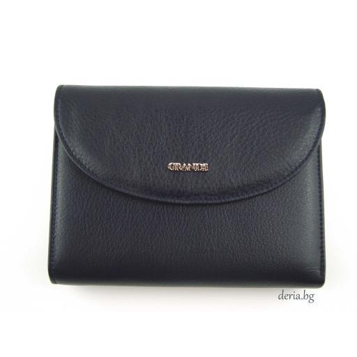 Дамски портфейл Grande K 3206-тъмно син
